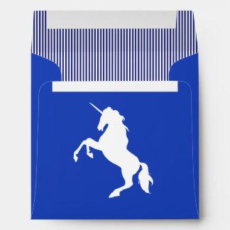 Beautiful Unicorn silhouette striped  illustration Envelope