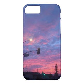 Beautiful urban transitional night sky iphone case