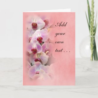 Beautiful Valentine Card with Orchids