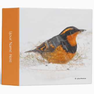 Beautiful Varied Thrush on a Snowy Winter's Day Binder