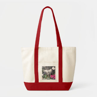 Beautiful variety of flowers image on a tote bag