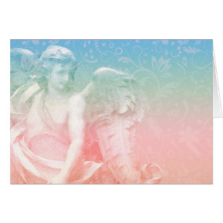 Beautiful Vatican Angel with Guardian Angel Prayer Card