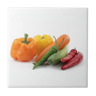 Beautiful vegetables small square tile