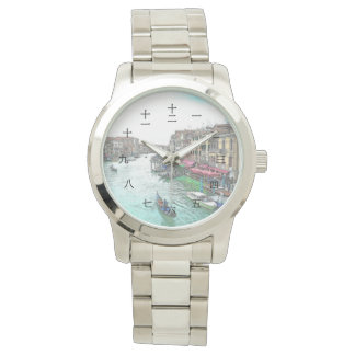 Beautiful Venice Italy with Chinese Numerals Wrist Watch