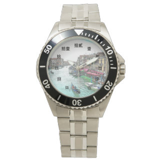 Beautiful Venice Italy with Chinese Numerals Wristwatch
