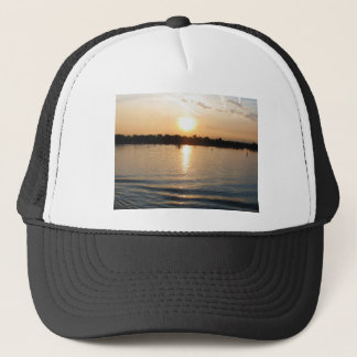 Beautiful Venice lagoon seacape at sunset Trucker Hat