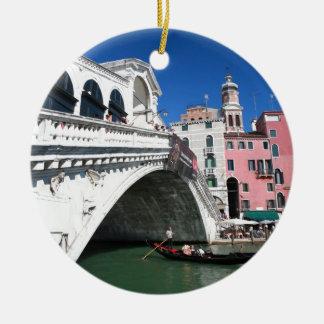 Beautiful Venice, Rialto Bridge Ceramic Ornament
