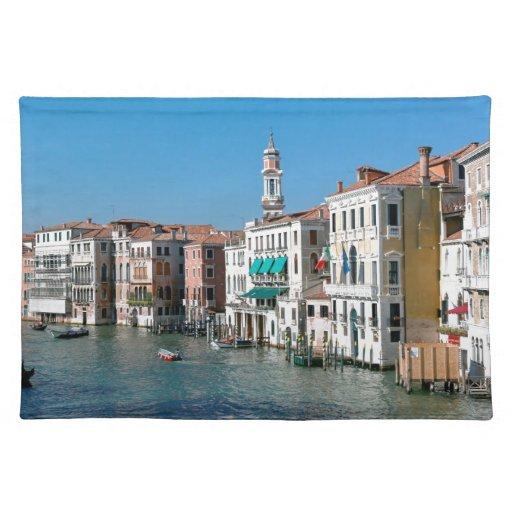 Beautiful Venice, Rialto Bridge Cloth Place Mat