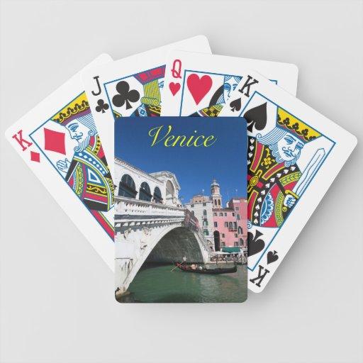 Beautiful Venice, Rialto Bridge Bicycle Poker Cards