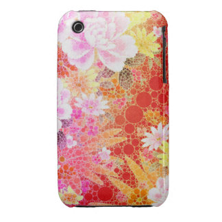 Beautiful Vibrant Abstract Flowers iPhone 3 Case