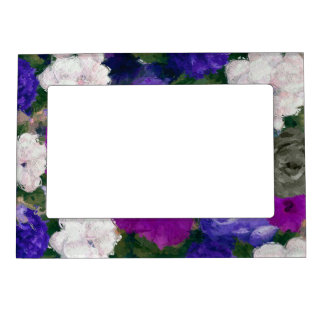 Beautiful Vibrant Abstract Flowers Magnetic Frame