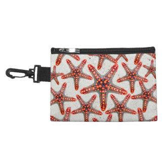 Beautiful Vibrant Red Starfish Sand Ocean Sealife Accessory Bags