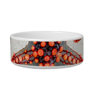 Beach Themed Beautiful Vibrant Red Starfish Sand Ocean Sealife Bowl