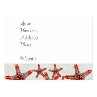 Beautiful Vibrant Red Starfish Sand Ocean Sealife Business Card Templates