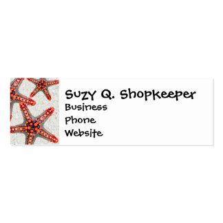 Beautiful Vibrant Red Starfish Sand Ocean Sealife Business Card