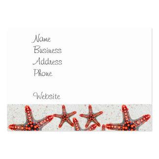 Beautiful Vibrant Red Starfish Sand Ocean Sealife Large Business Card