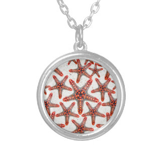 Beautiful Vibrant Red Starfish Sand Ocean Sealife Personalized Necklace