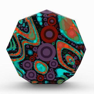 Beautiful Vibrant Swirly Abstract Pattern Award
