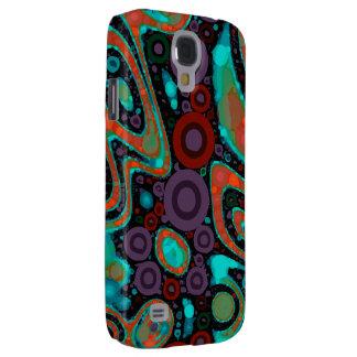Beautiful Vibrant Swirly Abstract Pattern Galaxy S4 Case