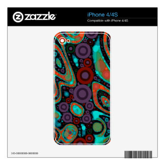 Beautiful Vibrant Swirly Abstract Pattern iPhone 4 Decals