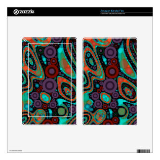 Beautiful Vibrant Swirly Abstract Pattern Kindle Fire Decal