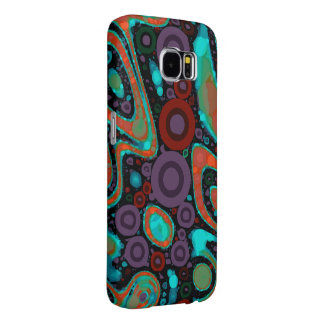 Beautiful Vibrant Swirly Abstract Pattern Samsung Galaxy S6 Cases