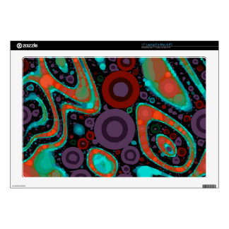 Beautiful Vibrant Swirly Abstract Pattern Skin For Laptop