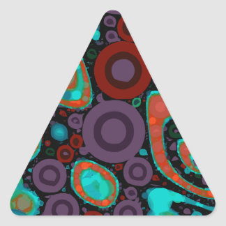 Beautiful Vibrant Swirly Abstract Pattern Triangle Sticker