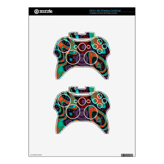Beautiful Vibrant Swirly Abstract Pattern Xbox 360 Controller Decal