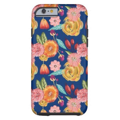 Beautiful Vibrant Wildflower Botanical Pattern Phone Case