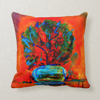 Beautiful vibrantly colored throw pillow