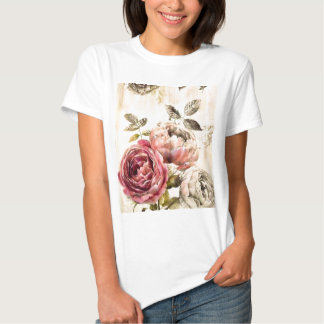 Beautiful Victorian Floral Painting T Shirts