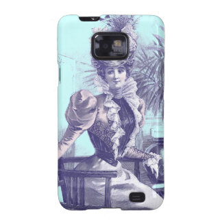 Beautiful Victorian Lady - Purple and Blue Samsung Galaxy S2 Covers
