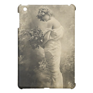 Beautiful Victorian Lady with cut flowers iPad Mini Case