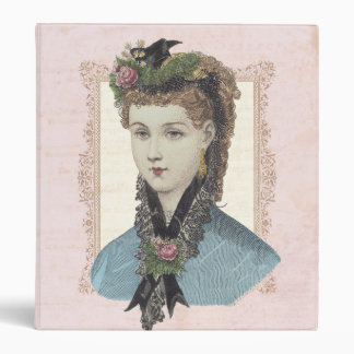 Beautiful Victorian Lady with Rose in Hair Binders