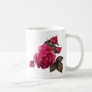 Beautiful Victorian Roses Basic White Mug