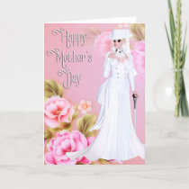 Beautiful Victorian Woman - Mother's Day Card