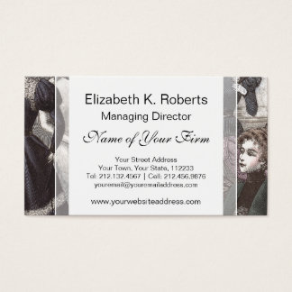 Beautiful Victorian Women in Long Vintage Dresses Business Card