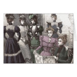 Beautiful Victorian Women in Long Vintage Dresses Greeting Card