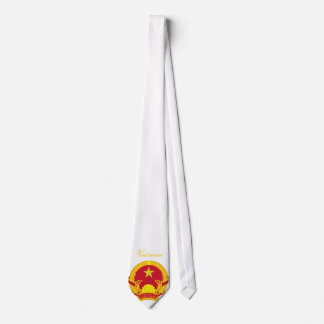 Beautiful Vietnam Flag Coat Arm Neck Tie