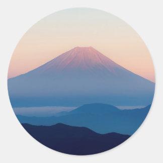 Beautiful view Mt. Fuji, Japan, Sunrise Classic Round Sticker