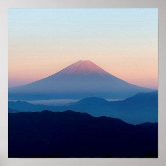 Beautiful view Mt. Fuji, Japan, Sunrise Poster