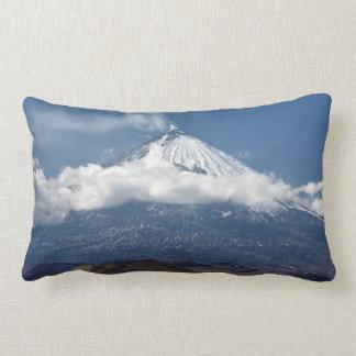 Beautiful view of active stratovolcano lumbar pillow