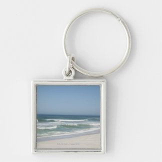 Beautiful view of beach against clear sky 2 keychain