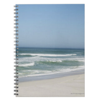 Beautiful view of beach against clear sky 2 spiral notebook