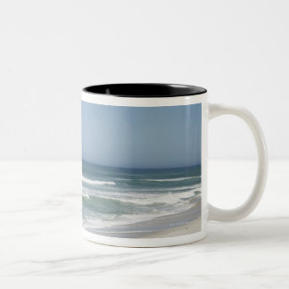 Beautiful view of beach against clear sky 2 Two-Tone coffee mug