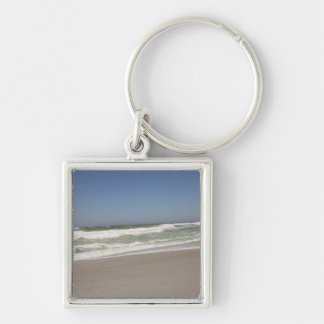 Beautiful view of beach against clear sky 3 keychain