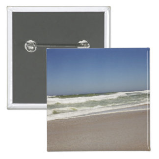 Beautiful view of beach against clear sky 3 pinback button