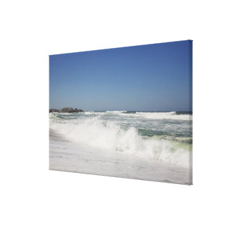 Beautiful view of beach against clear sky canvas print