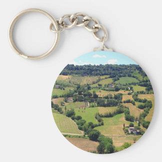 Beautiful view  of Orvieto, Umbria,Italy Keychain
